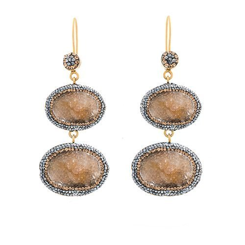 handmade-citrine-double-earrings