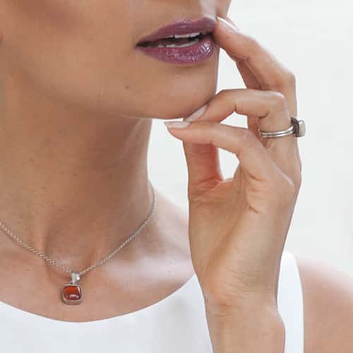 anadyla red agathe necklace