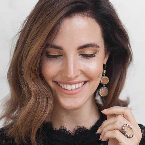 precious citrine earrings