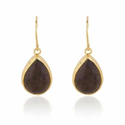 Smokey drop earrings