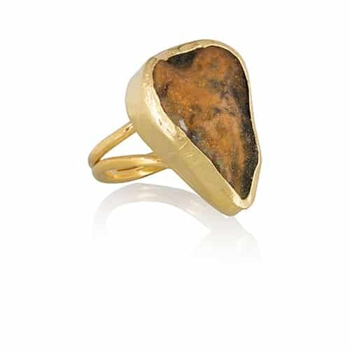 Ana Dyla moss agate ring