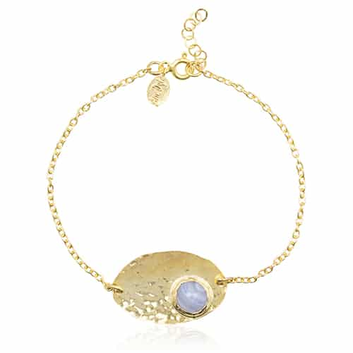 By Noon blauw chalcedoon armband
