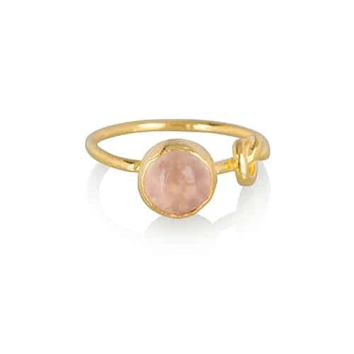 infinity rose chalcedony gold