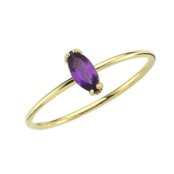 amethyst ring 14ct gold